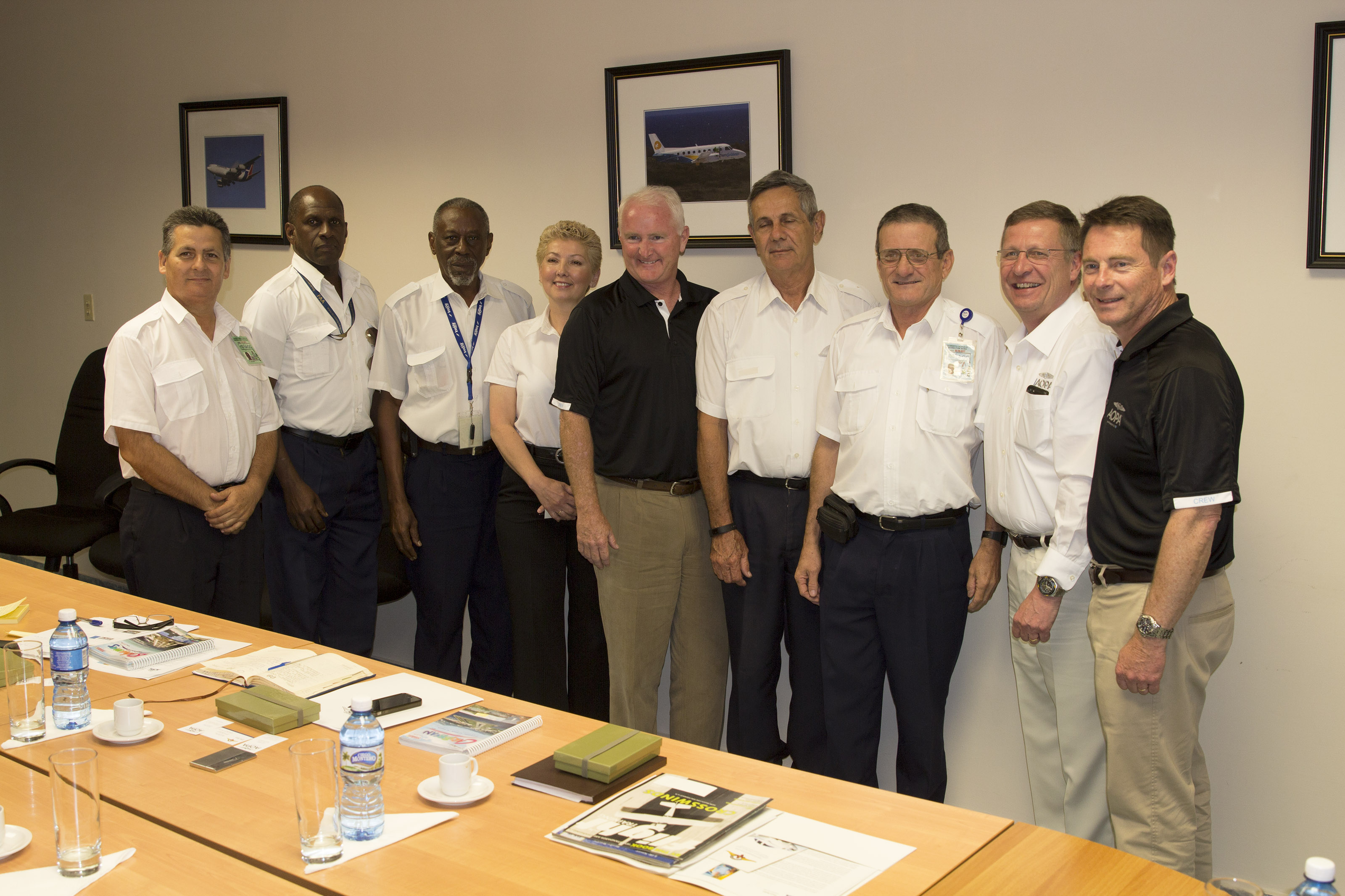 Cuban aviation authorities warmly received AOPA senior leaders, including AOPA President Mark Baker (center), to discuss ways to further open the nation to general aviation activity.