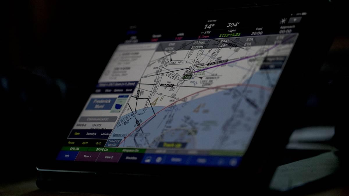 WingX is among the best-selling navigation apps for the Apple iPad. Jim Moore photo.