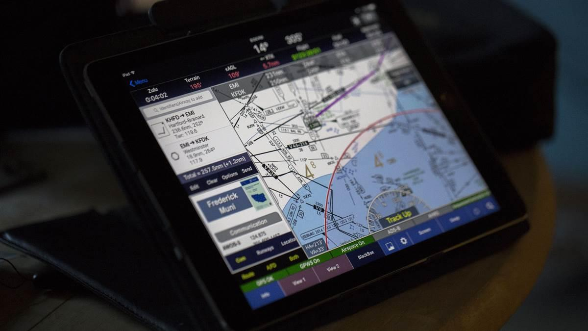 WingX Pro7 is among the best-selling navigation apps for the Apple iPad. Jim Moore photo.
