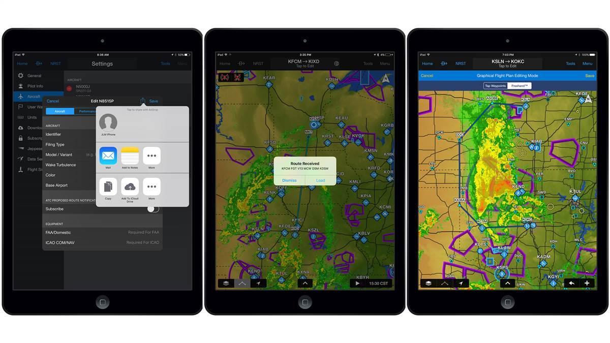 The AOPA Flight Planner desktop application is now compatible with the mobile Garmin Pilot app. The new functionality adds the ease of flight planning, navigation logs, and more, with a couple of mouse clicks. Photo courtesy of Garmin.