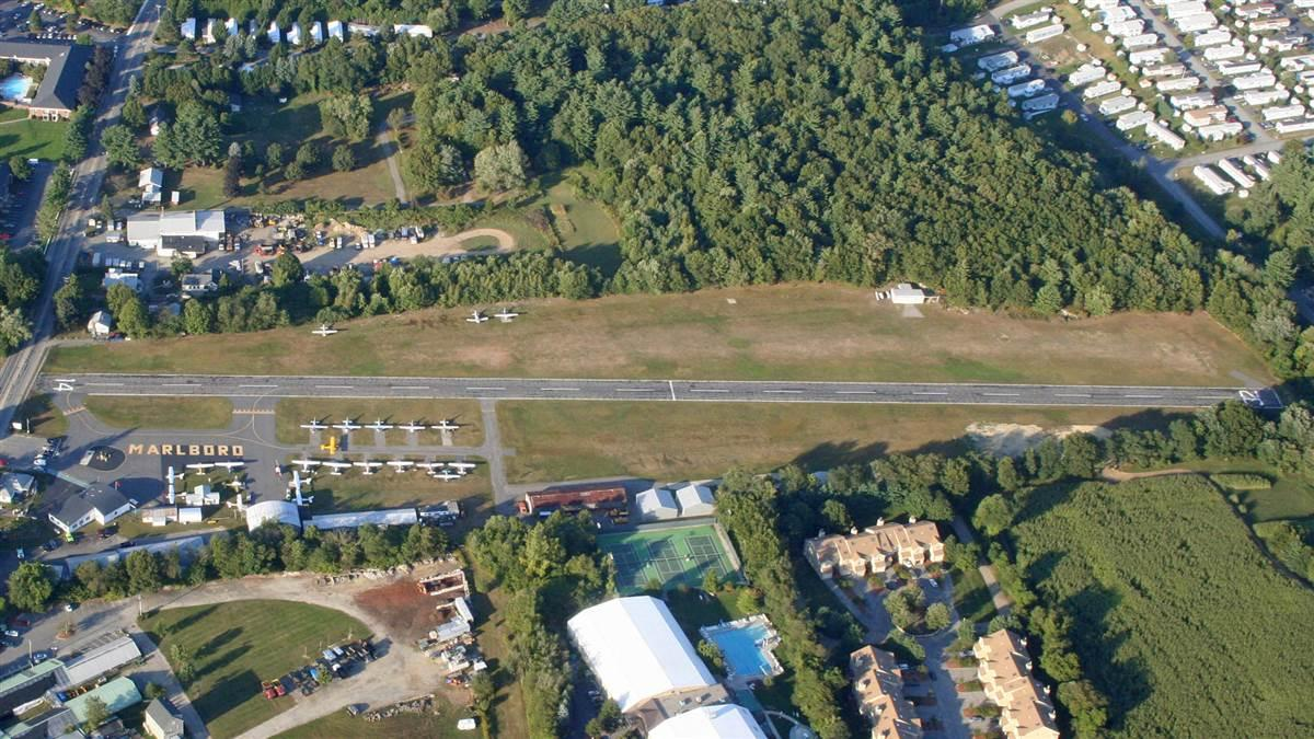 Aerial of Marlboro, Massachusetts, airport. Photo courtesy of Dudley Darling.