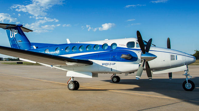 The Wheels Up fleet currently includes 105 King Air 350i turboprop twins.
