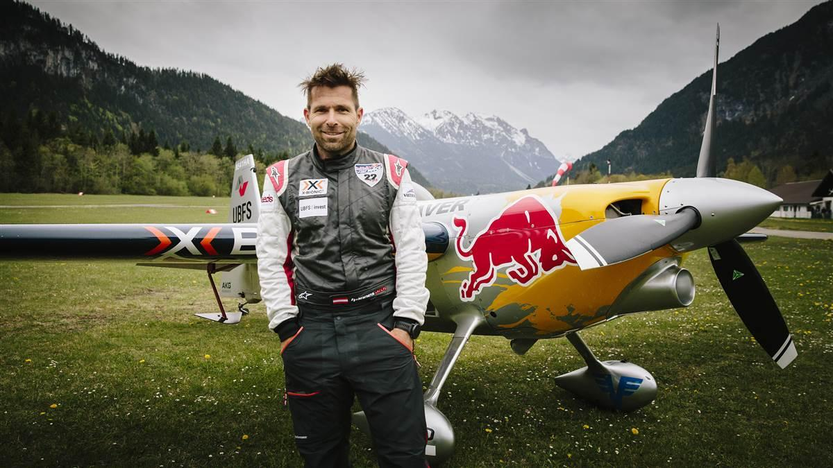 Hannes Arch poses for a portrait at the Highline 179 Air Show in Reutte, Austria in 2015. Photo by Andi Mayr/Red Bull Content Pool.