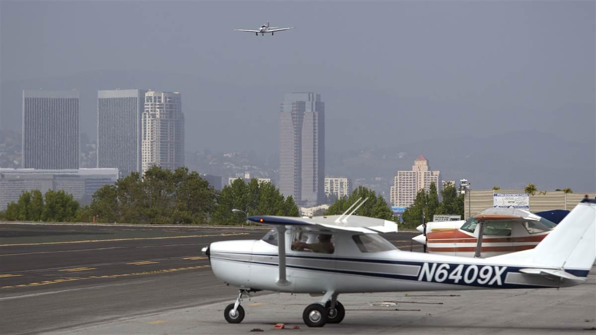 "Two weeks after the FAA reiterated its longstanding and unambiguous view that Santa Monica Municipal Airport must continue operating on ""fair and reasonable terms"" until 2023 at least, the city issued eviction notices targeting both of the airport's fixed base operators, Atlantic Aviation and American Flyers. Photo by Chris Rose."