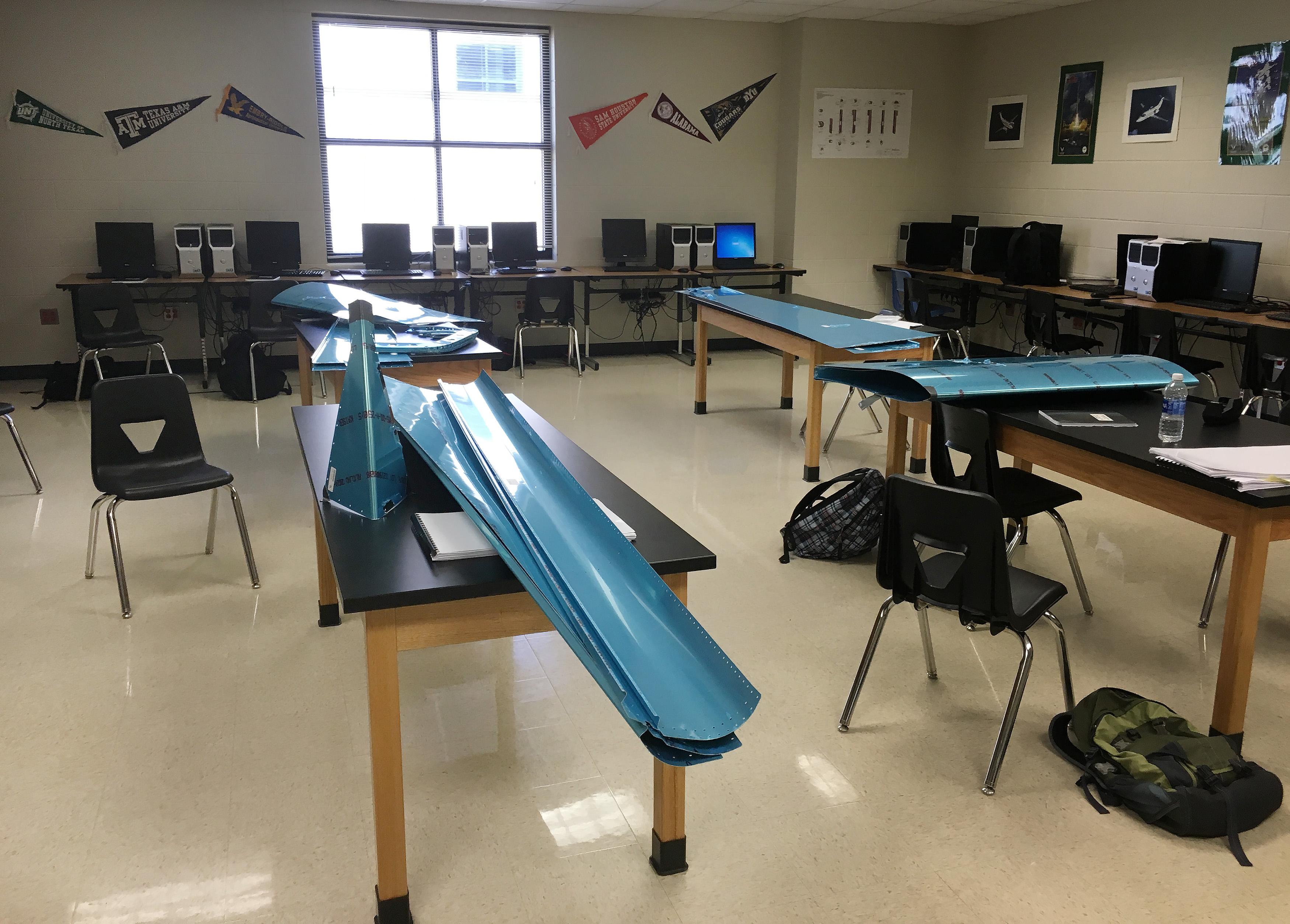 Engineering teacher Dan Weyant introduced a Van's Aircraft RV-12 airplane build project to high schools in Georgetown, Texas, as part of their science, technology, engineering, and math-driven curriculum. Photo courtesy of Dan Weyant.