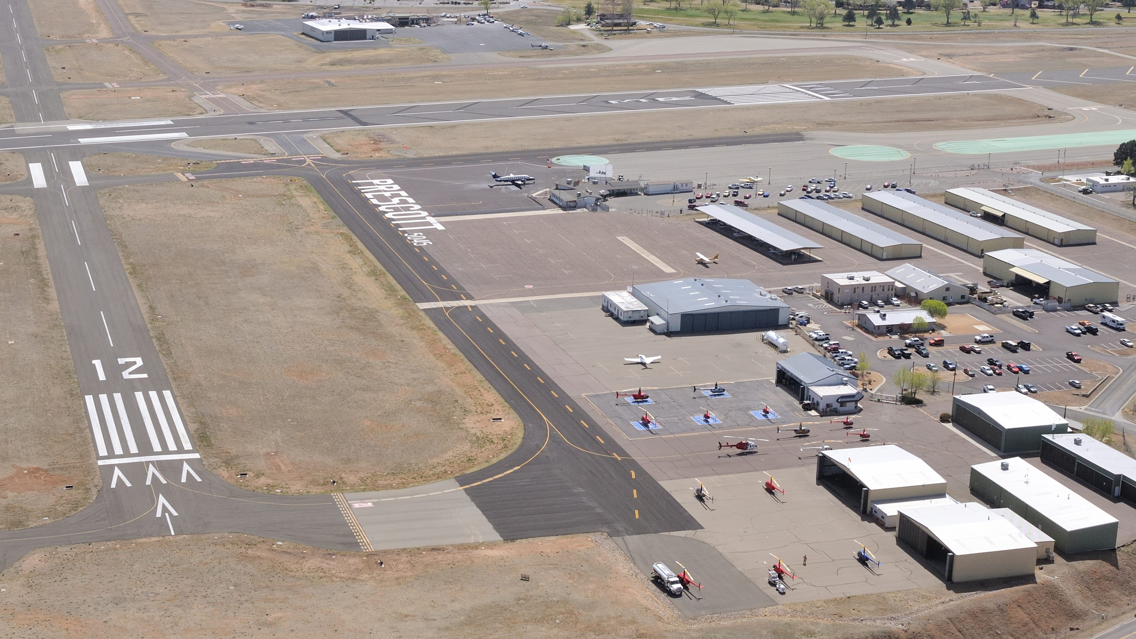 AOPA Fly-In activities at Prescott, Arizona, will be centered on the Guidance Aviation ramp, shown at lower right. Photo by Mike Collins.