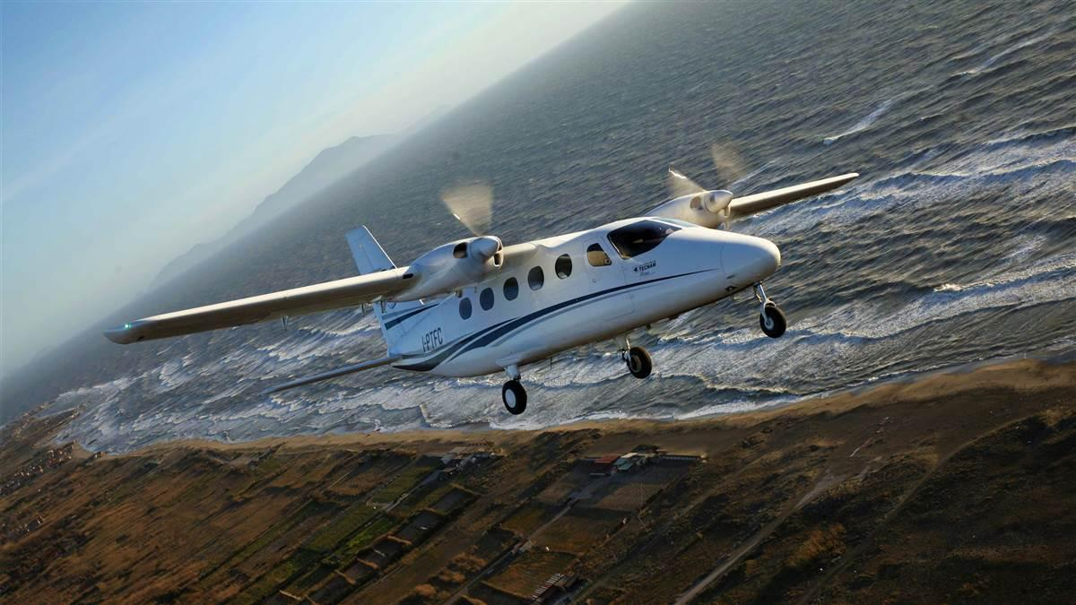Tecnam has begun reserving production slots for the 11-seat P2012 Traveller. Photo courtesy of Tecnam.