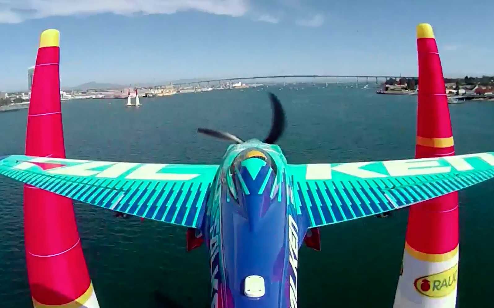 Yoshihide Muroya of Japan performs during the Red Bull Air Race World Championship in San Diego, April 16. Photo courtesy of Red Bull Content Pool