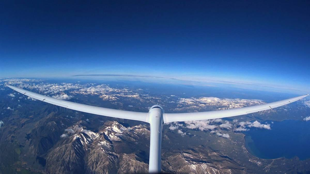 A view from 26,000 feet from the tail of Perlan 2. Photo courtesy of Airbus Perlan Mission II.