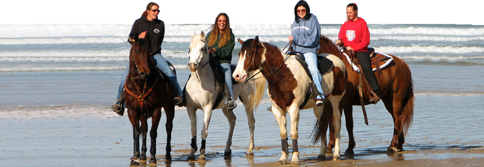 Ride a horse on the beach at Oceano with the folks from Pacific Dunes Ranch. Photo courtesy Pacific Dunes Ranch.