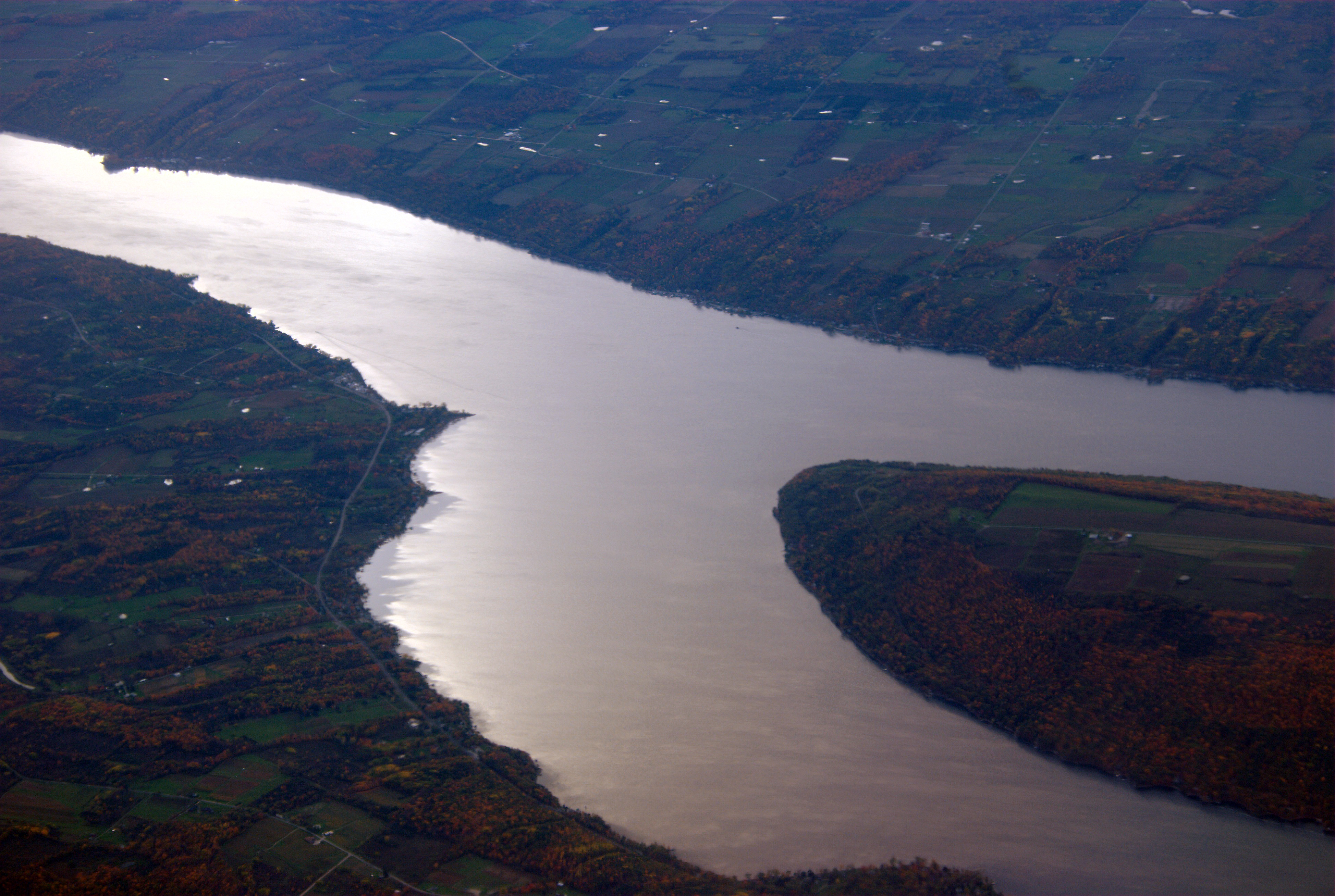 Unlike the other Finger Lakes, which are long and narrow, Keuka Lake is shaped like a Y. Photo by Carl Mueller via Flickr.