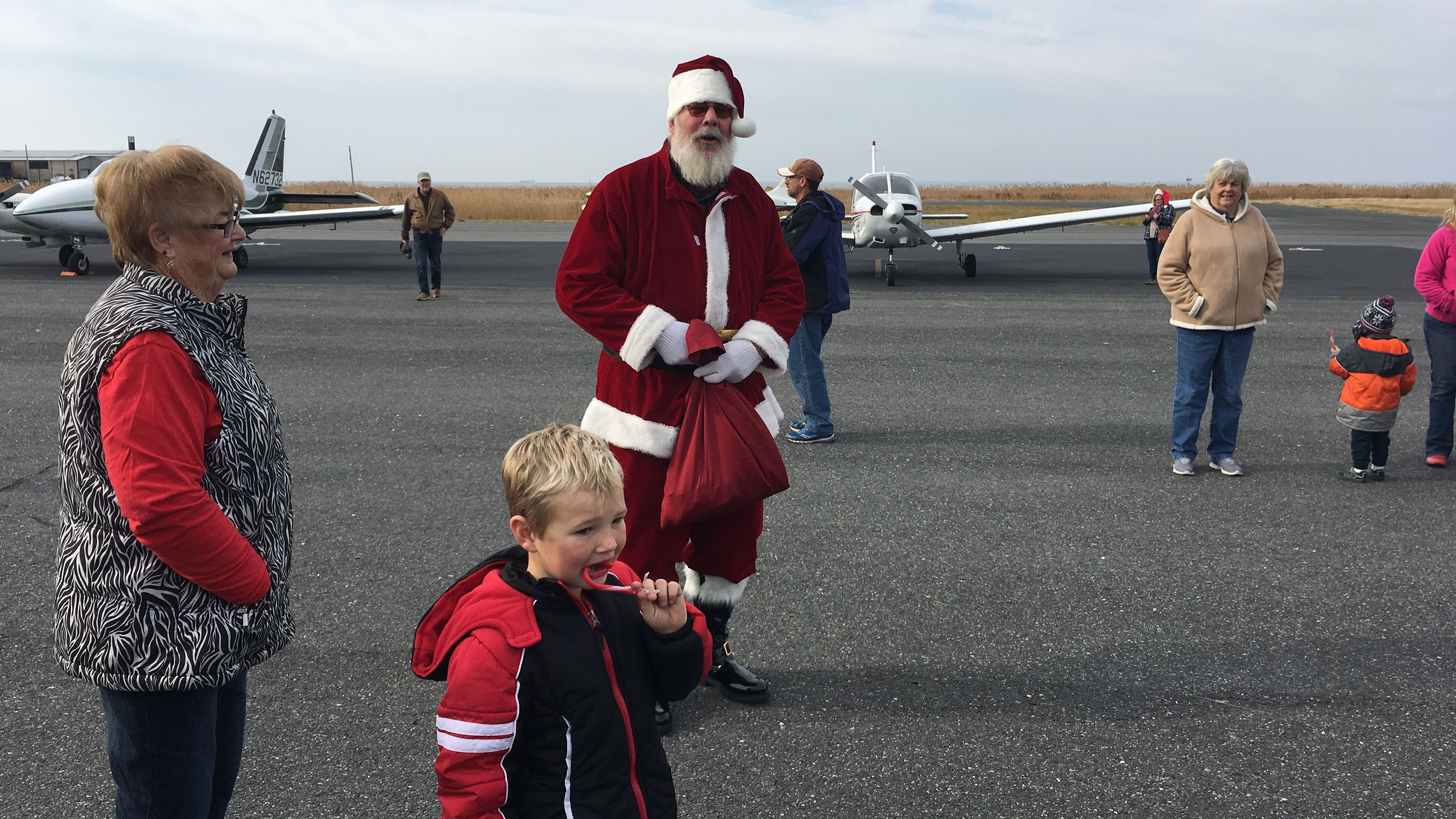 Santa arrives at Tangier Island for the Holly Run. Photo by Joe Kildea.