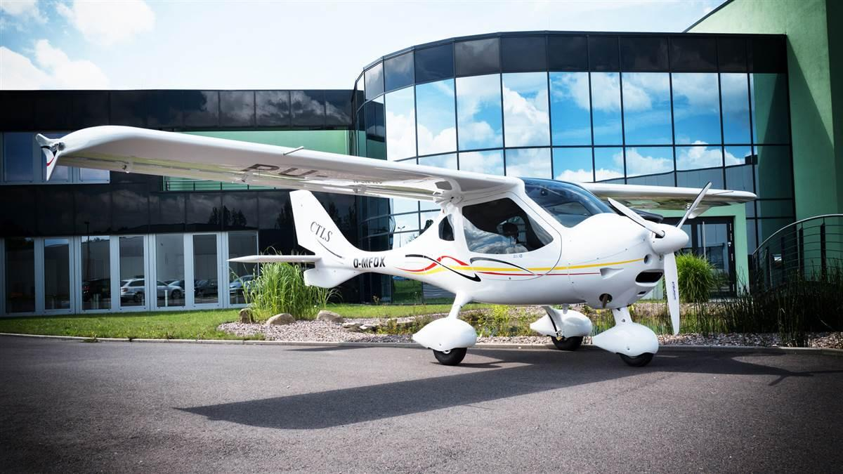 A Flight Design CTLS parked in front of LiftAir headquarters at Kindel Airport near Eisenach, Germany. Photo courtesy of Flight Design general aviation GmbH.