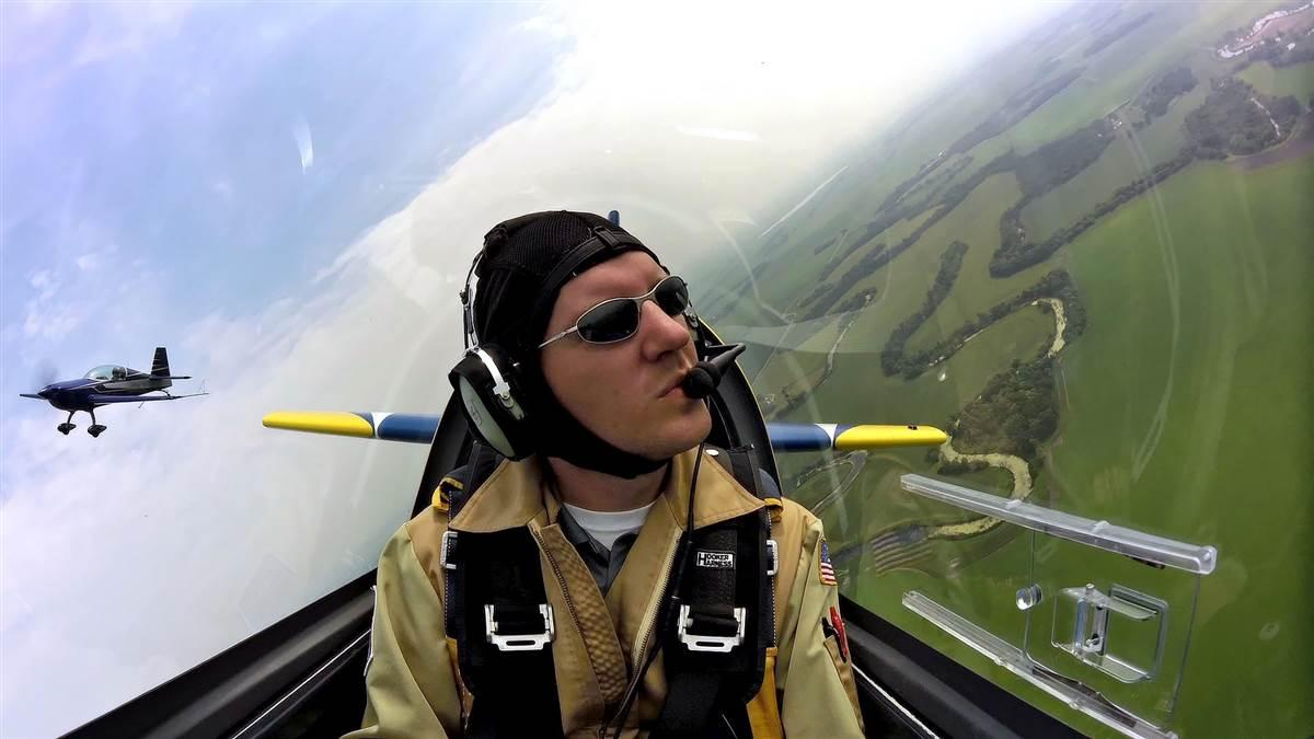 University of North Dakota Aerobatic team coach Mike Lents earned a spot on the U.S. Advanced Aerobatics team that will compete in August at the 2018 World Advanced Aerobatic Championships in Ploiesti, Romania. Photo courtesy of Mike Lents, University of North Dakota.