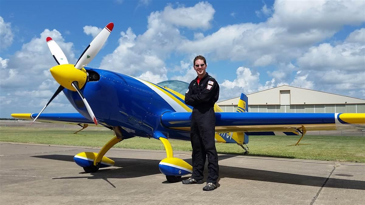 University of North Dakota aerobatic team coach Mike Lents earned a spot on the U.S. Advanced Aerobatics team that will compete at the 2018 World Advanced Aerobatic Championships in Ploiesti, Romania. Photo courtesy of Mike Lents, University of North Dakota.