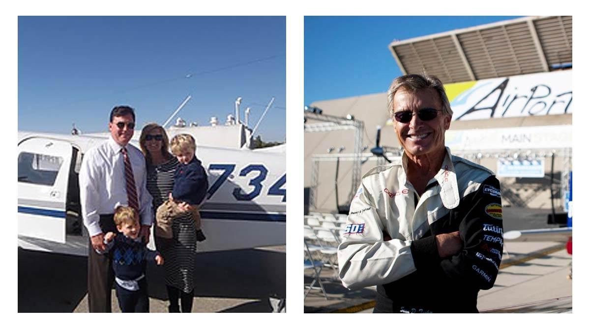 AOPA will honor Rep. Todd Rokita (R-Ind.), left, and aerobatic pilot Sean D. Tucker for contributions to general aviation at the second annual Bob Hoover Trophy Reception March 8.