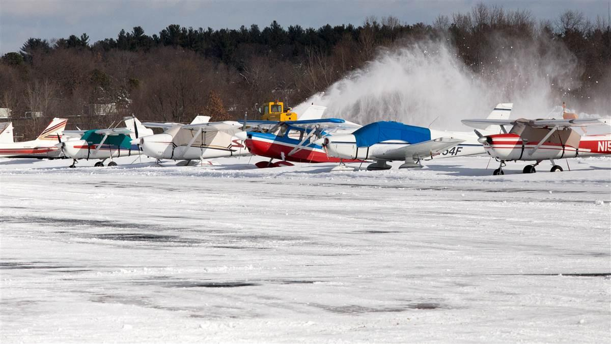 Bill O'Leary and his staff had Robertson Field (4B8) in Plainville, Connecticut, reopened Feb. 10 after clearing a foot of snow, perhaps a little more. Jim Moore photo.