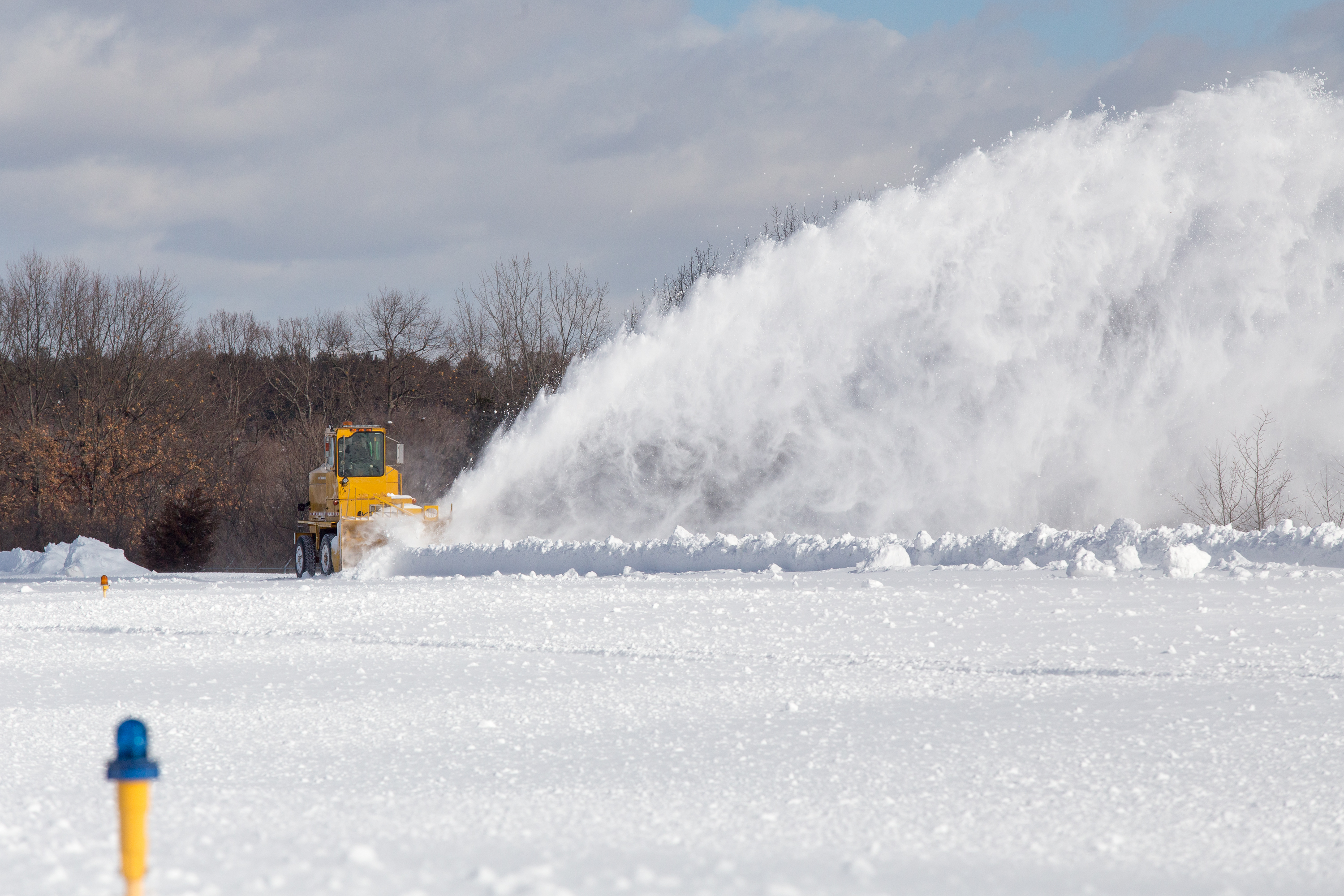 Bill O'Leary, owner of Interstate Aviation in Plainville, Connecticut, and the manager of Robertson Field, said Feb. 10 that the roughly $20,000 he spent a few years ago buying and fixing up this SMI Snowmaster has proved to be a worthwhile investment. Jim Moore photo.