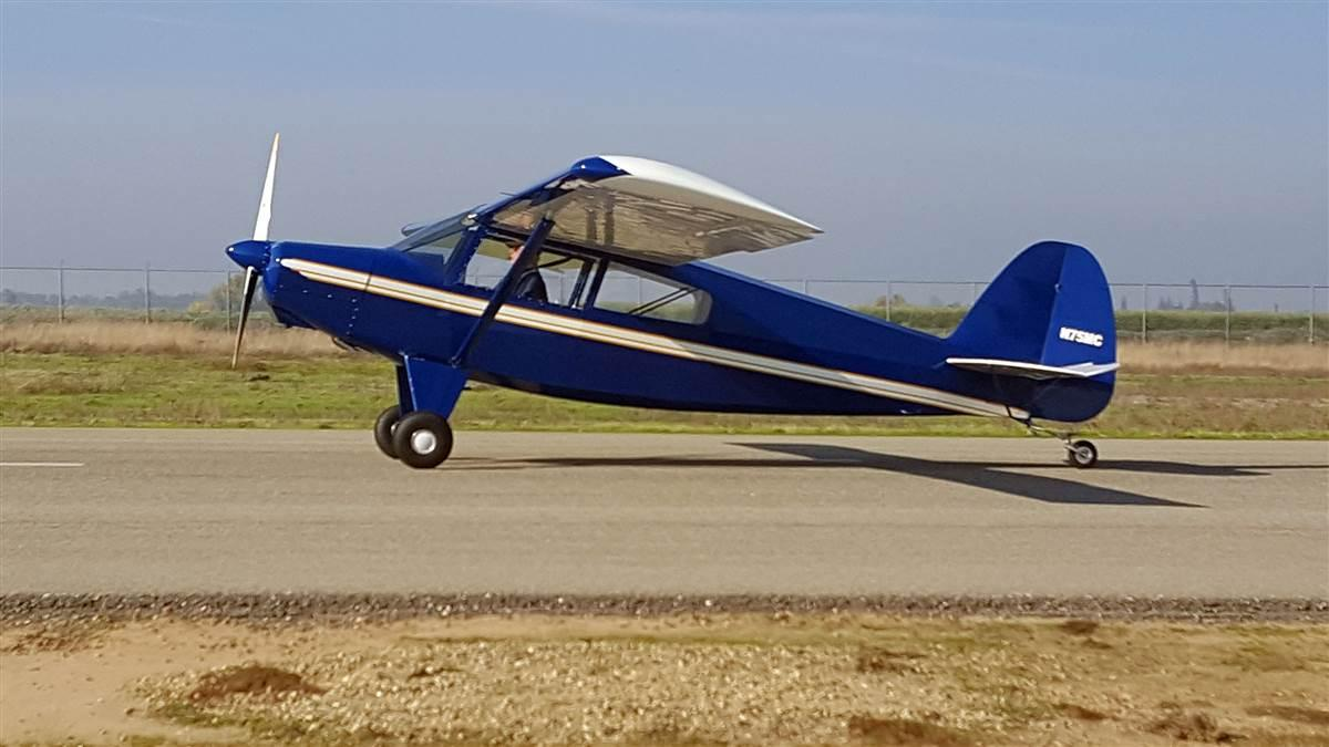 Bruce McElhoe of Reedley, California made his first flight in the first Bearhawk LSA kit to be completed, in November. Photo courtesy of Bearhawk Aircraft.