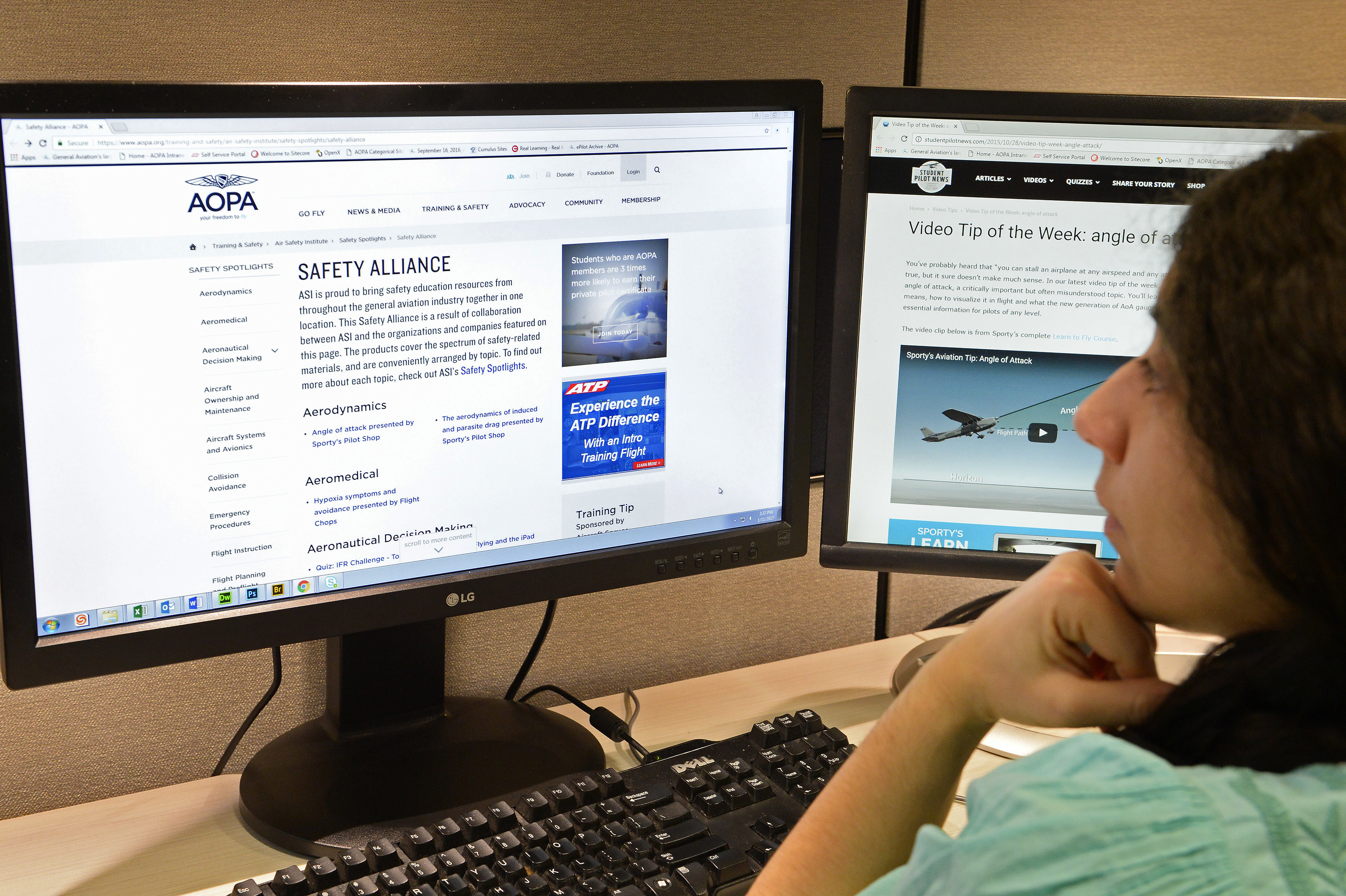 The AOPA Air Safety Institute's new Safety Alliance online resource covers a spectrum of safety-related materials arranged by topic. Photo by David Tulis.
