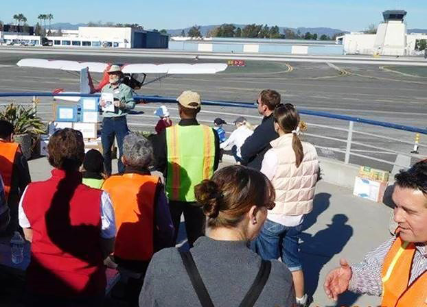 Paul Marshall, CalPilots Disaster Airlift Response Team program manager, briefs the DART members about the status of the nine teams that are operational or in formation around the state of California. Photo courtesy of the Disaster Airlift Response Team.