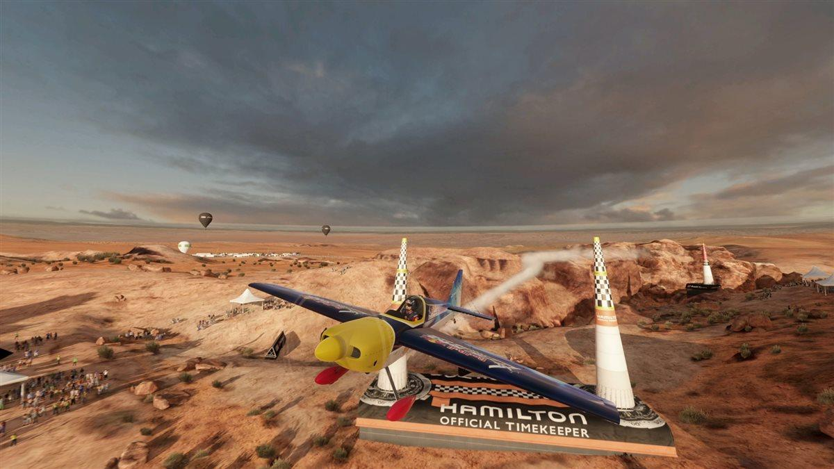 While the Red Bull Air Race World Championship does not actually fly the Grand Canyon, you can, in the new game released to the public Jan. 25 for free download. Image courtesy of Red Bull Content Pool.