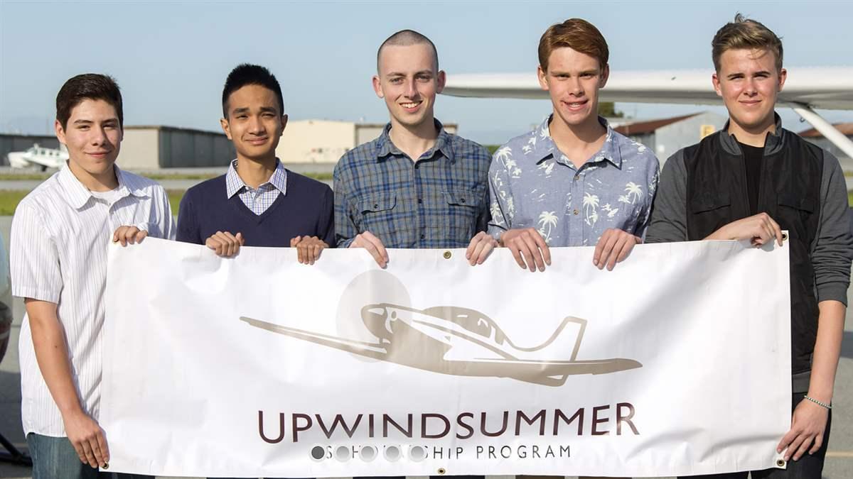 The Upwind Foundation in San Carlos, California, has awarded eight flight training scholarships to high school students since its inception five years ago. Photo courtesy of The Upwind Foundation.