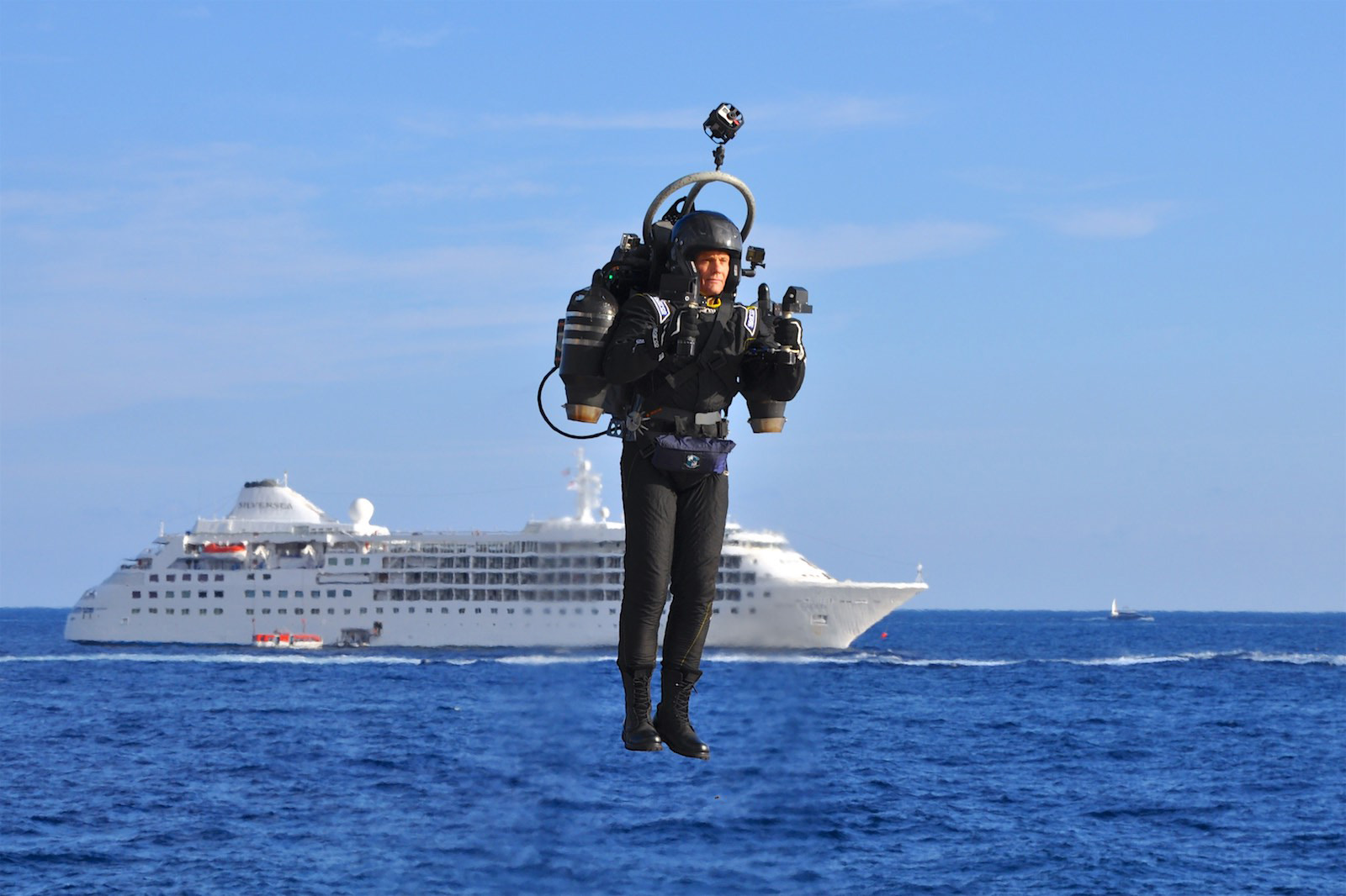 David Mayman demonstrated the JetPack Aviation JB-10 in Monaco. Photo courtesy of JetPack Aviation.
