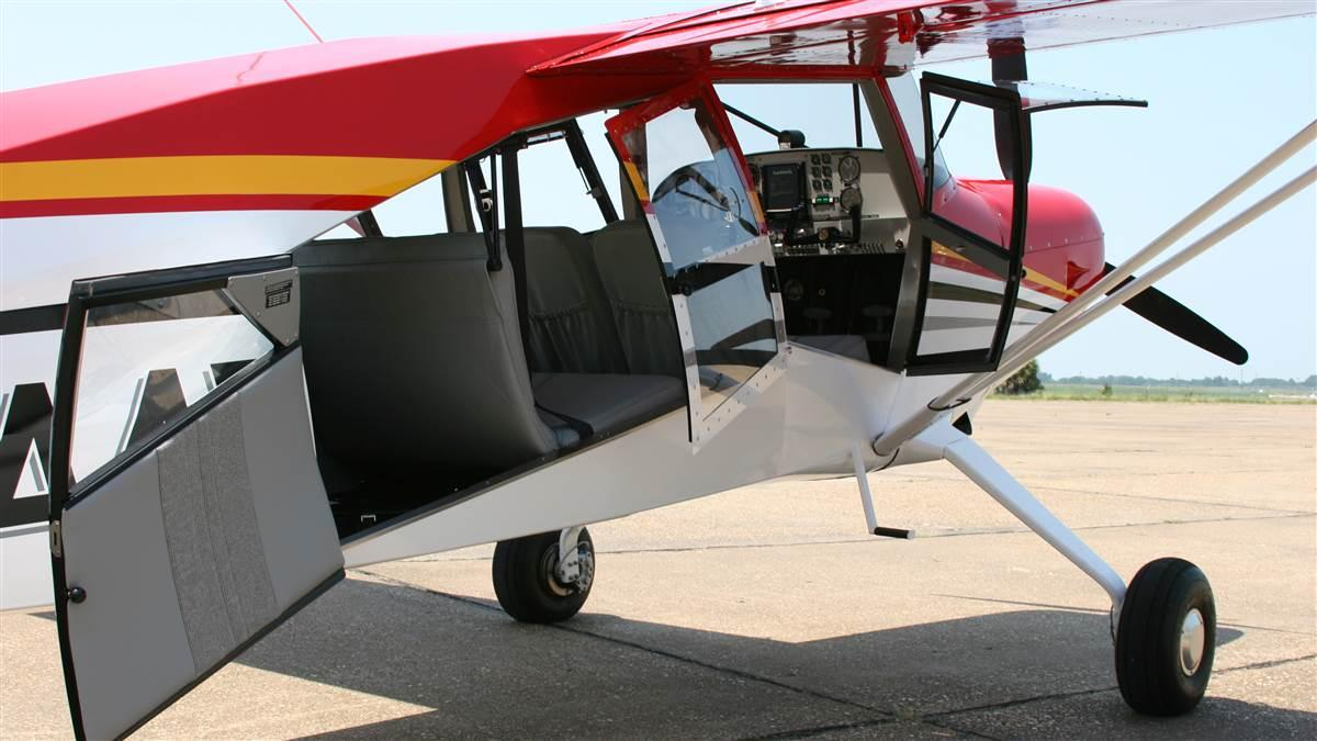 The large double doors allow easy accesss to the cargo area, and can be removed before flight to make the M-9 an ideal photography platform. Photo courtesy of Maule Air, Inc.