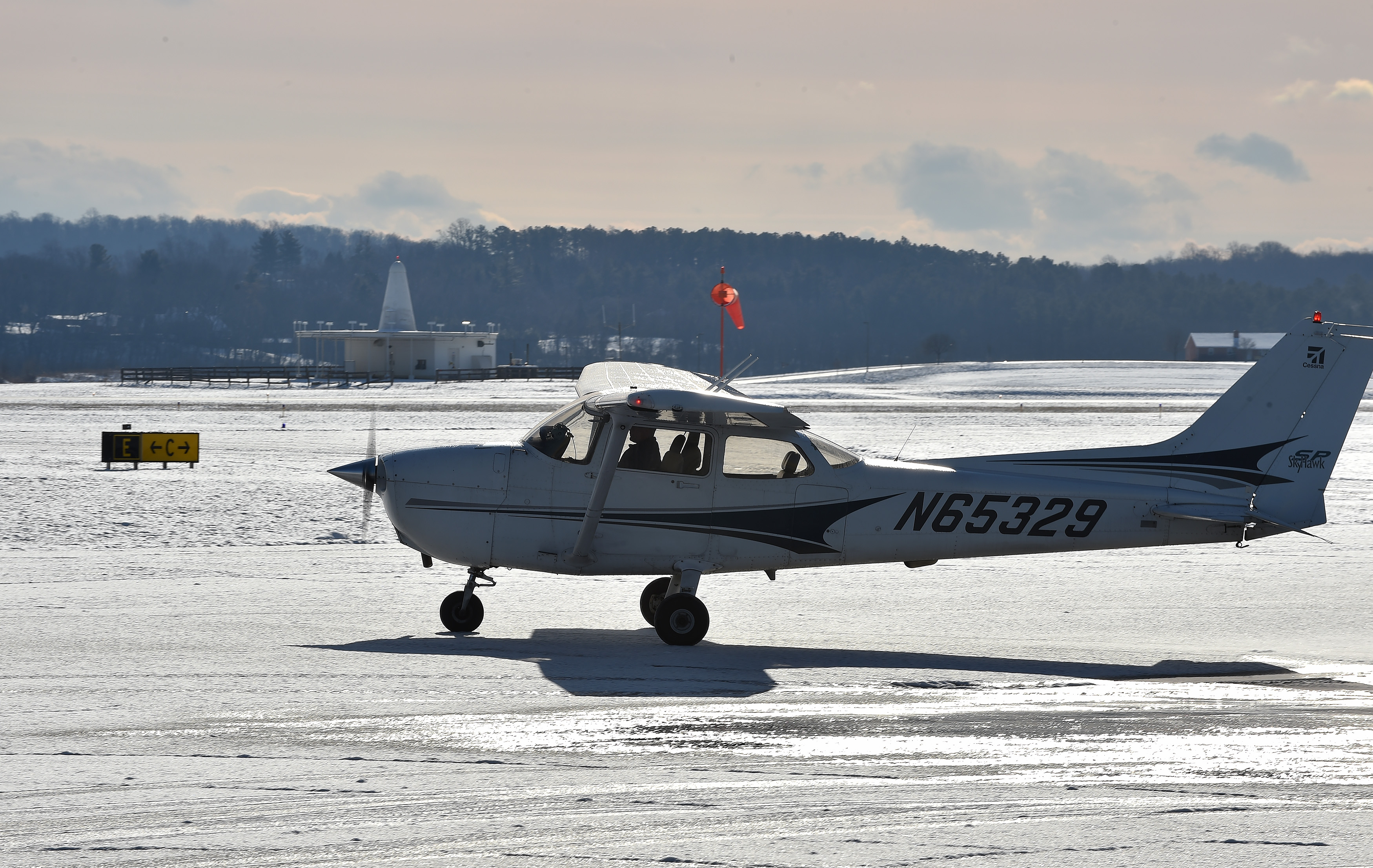 Winter flying brings special challenges in the air and on the ground. Photo by David Tulis.