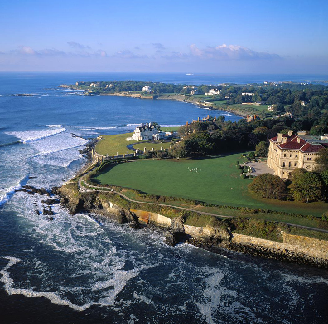 Homes of the rich and famous line the gorgeous Newport coastline. Photo courtesy Discover Newport.