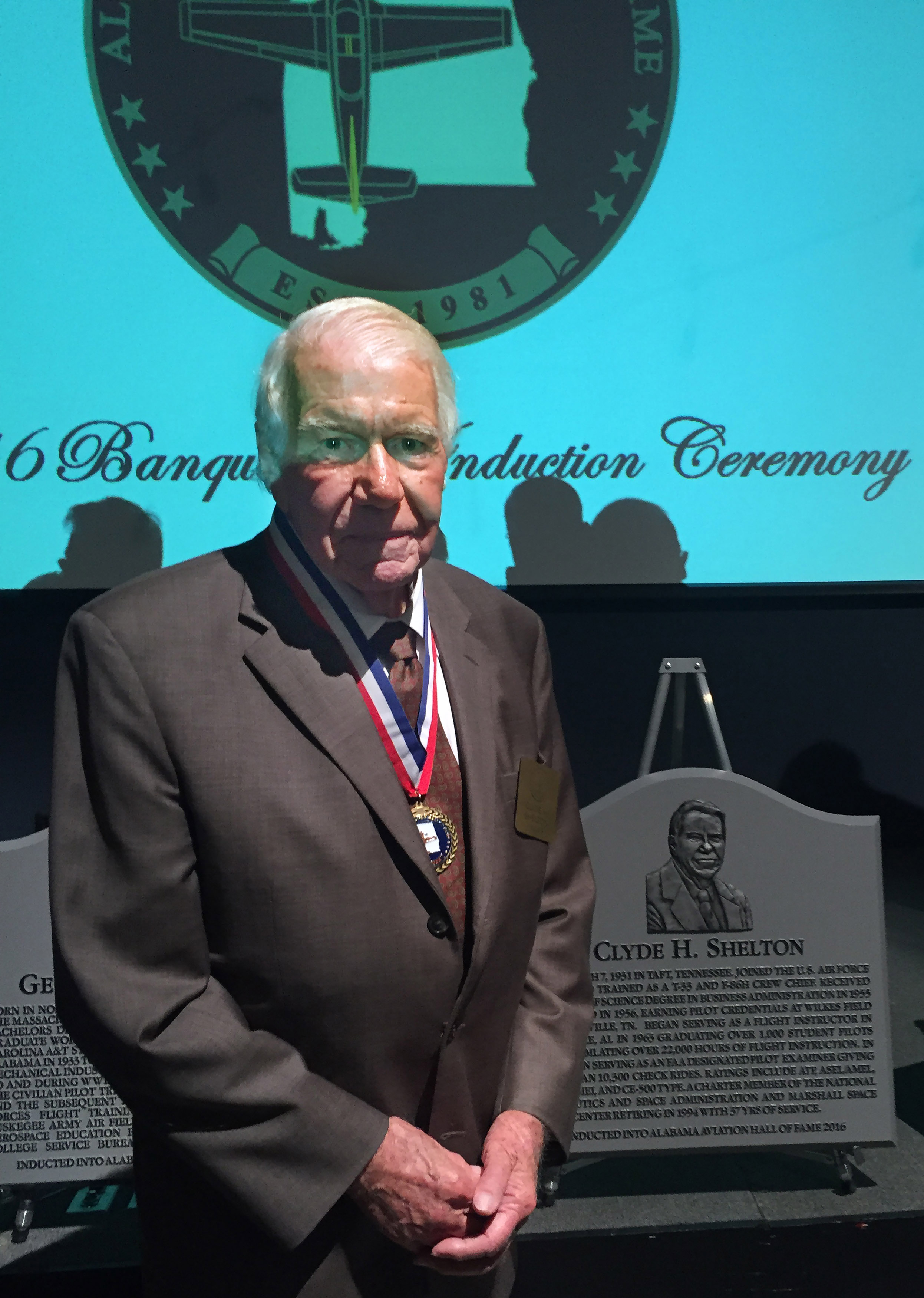Tennessee and Alabama Aviation Hall of Fame inductee Clyde Shelton, 86, died June 10. Shelton administered more than 10,300 check rides and logged nearly 39,000 hours during his aviation career. Photo courtesy of Donna Meyer.