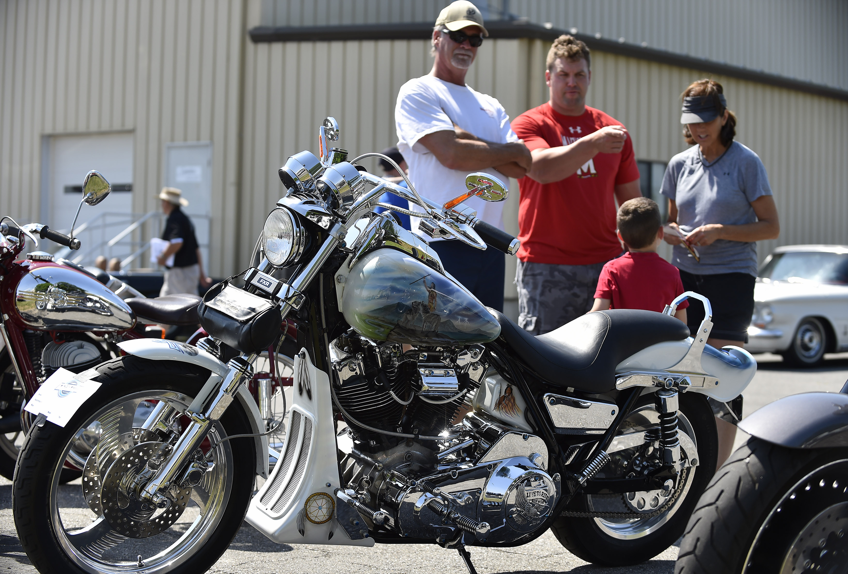 A Harley-Davidson named 'Tator' was the best-in-show motorcycle winner during the Wings 'n Wheels showcase. Photo by David Tulis.