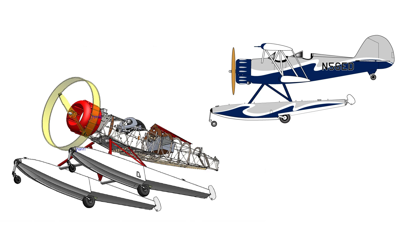 Drawings courtesy of Waco Aircraft Corp.