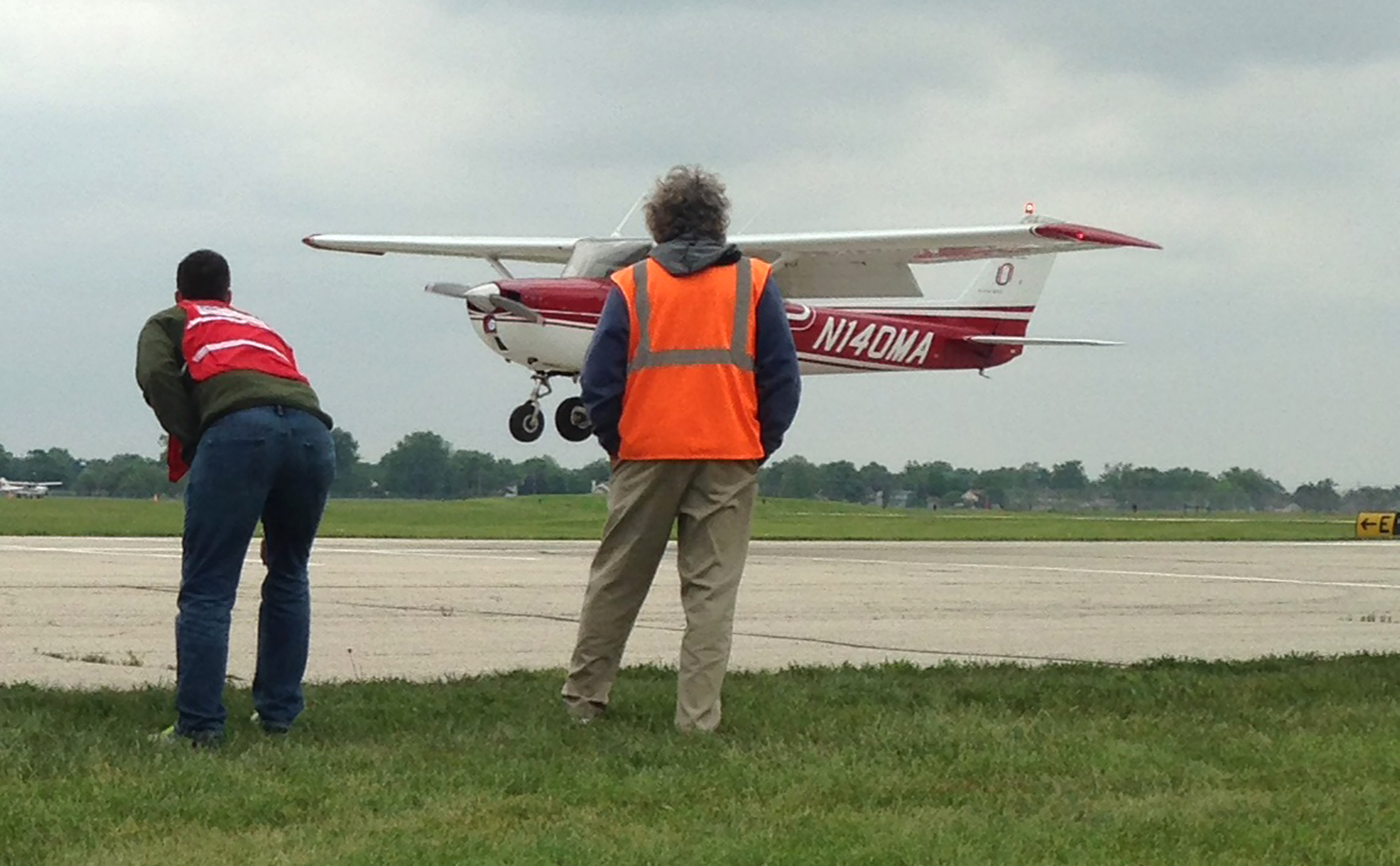 More than 380 college aviation students competed at Ohio State University during the annual National Intercollegiate Flying Association National Safety and Flight Evaluation Conference May 9 to 14. Photo by Julie Summers Walker.