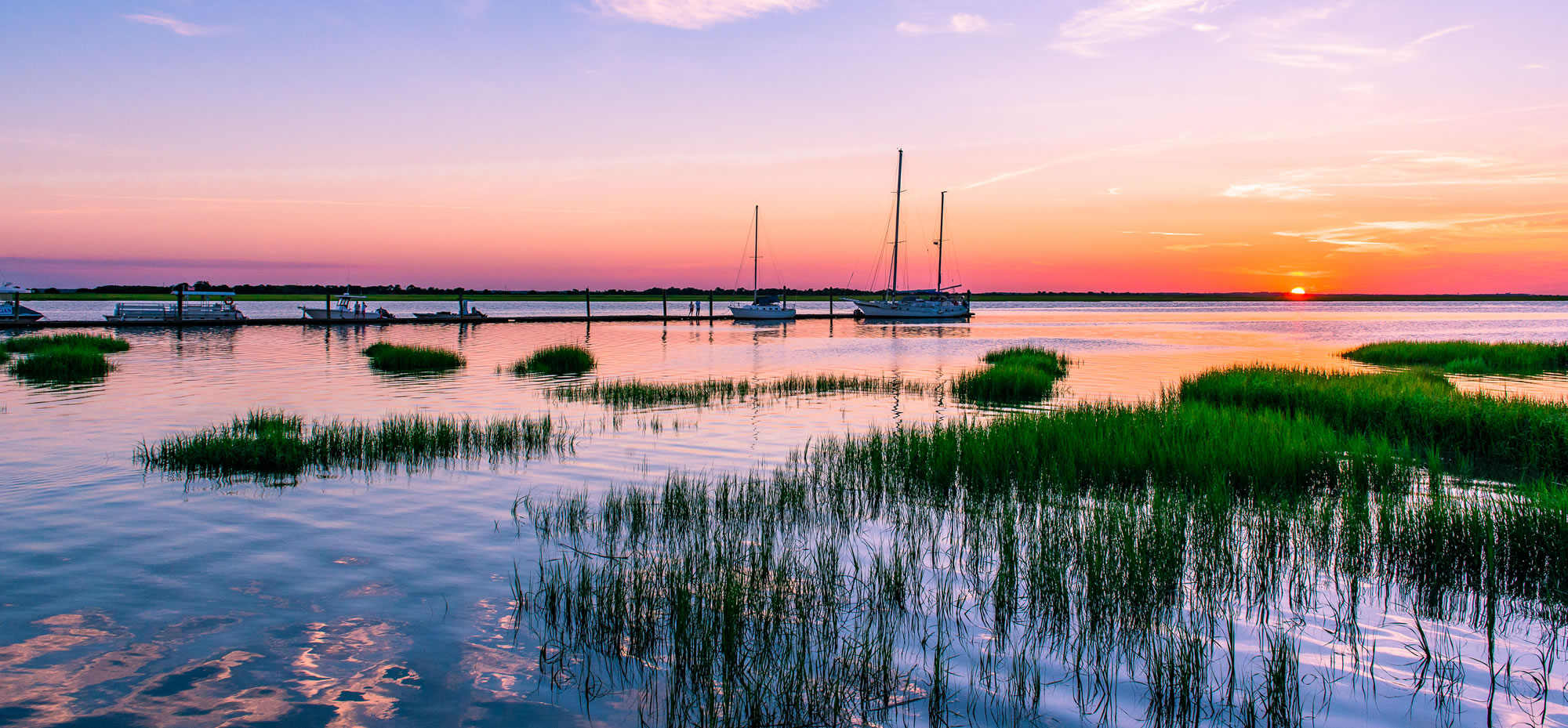 "Just another beautiful sunset, viewed from one of Georgia's ""Golden Isles."" Photo courtesy GoldenIsles.com."