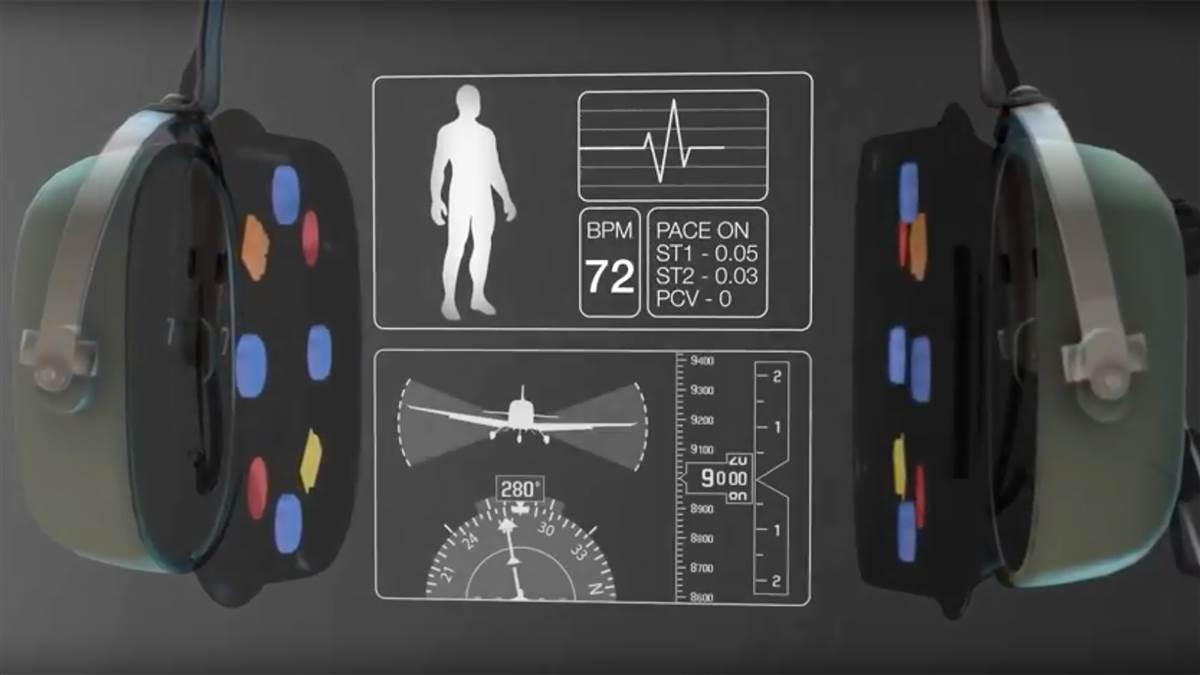 University of North Dakota researchers developed wearable headset technology called Smartsealz that can alert pilots affected by fatigue or hypoxia. Image courtesy of the University of North Dakota.