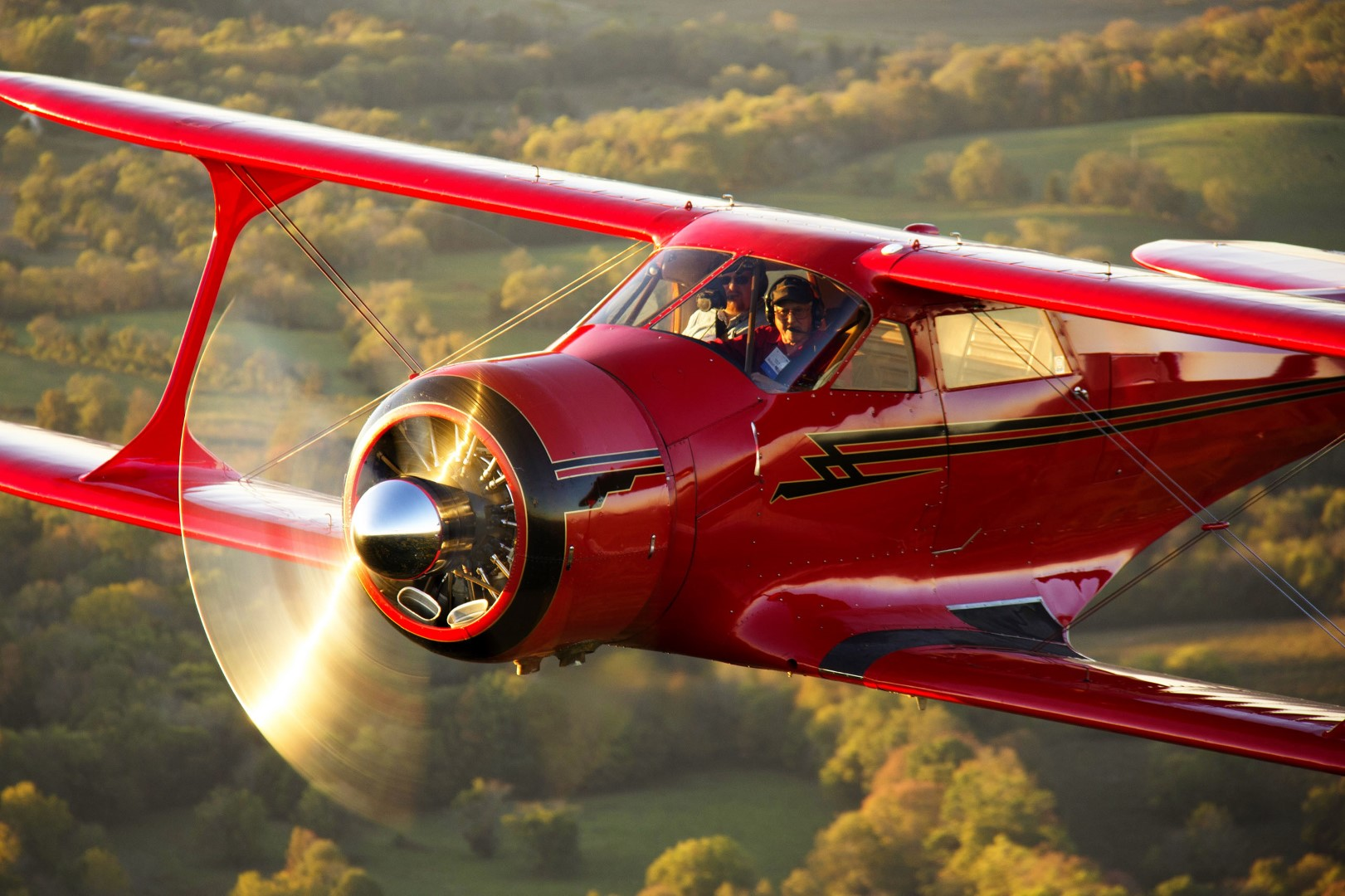 "First flown in 1932, the Beechcraft Model 17 ""Staggerwing"" was designed for the traveling business executive. The airplane had a retractable gear and boasted speeds of up to 212 mph. This timeless design is as beautiful today as ever. Photo by Thomas Hoff."