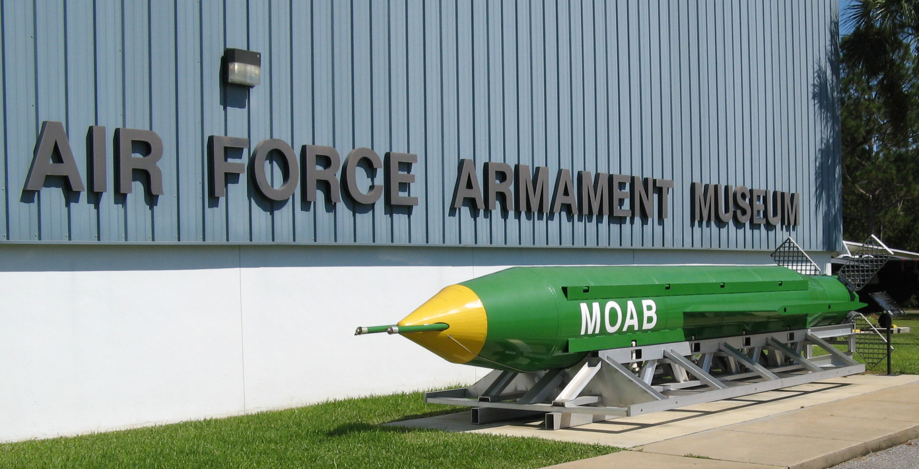 The Air Force Armament Museum in Florida displays an incredibly diverse array of weaponry, including the AMRAAM, the newest air-to-air missile. Photo by Greg Goebel via Wikipedia.