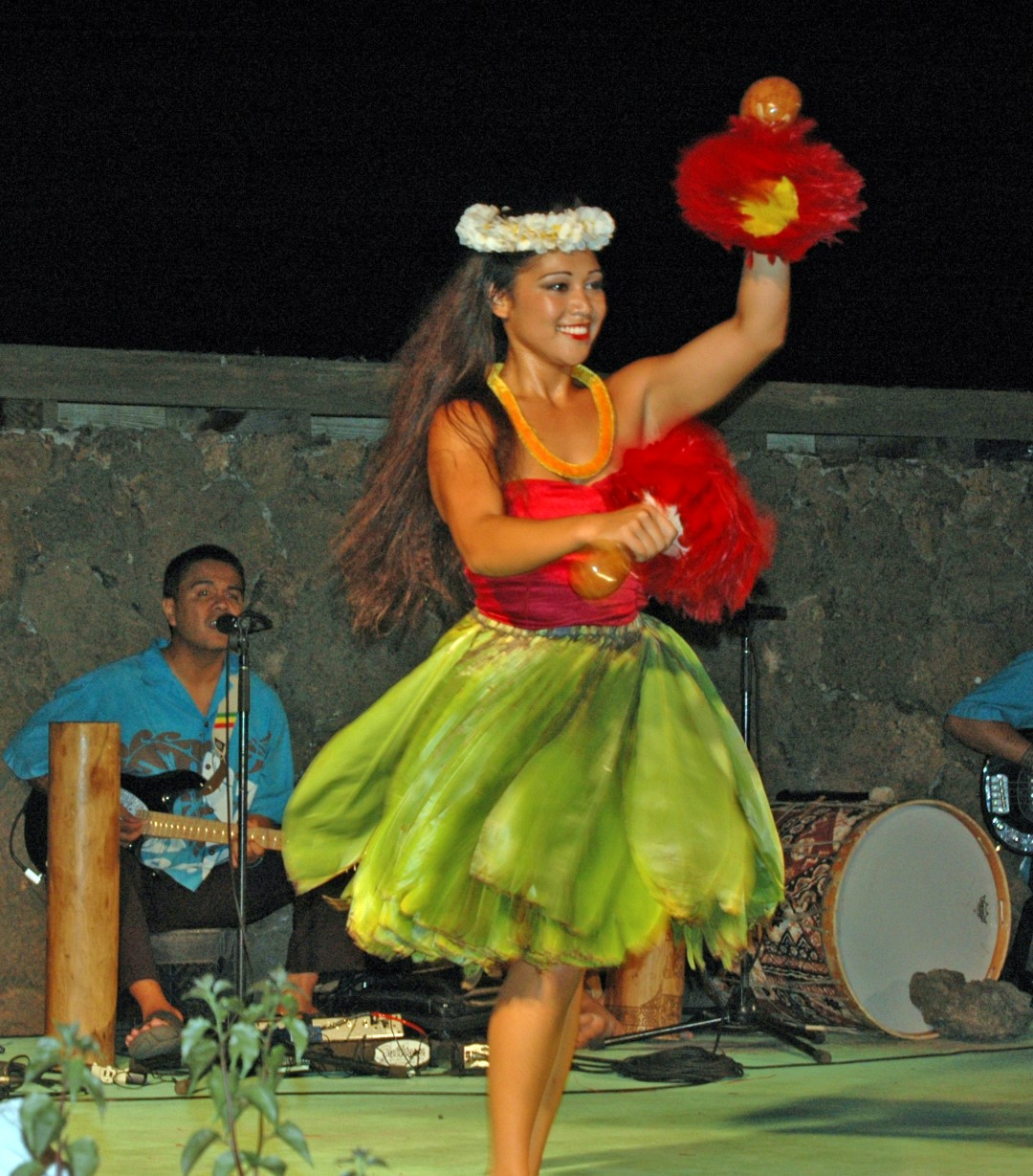 A Lu΄au takes you back to classic 1960s Hawaiian entertainment. Have fun at the Waikoloa Beach Marriott Resort's Sunset Lu'au—pu-pus, roasted pig, hula and fire dances, and all. Photo by Crista Worthy.