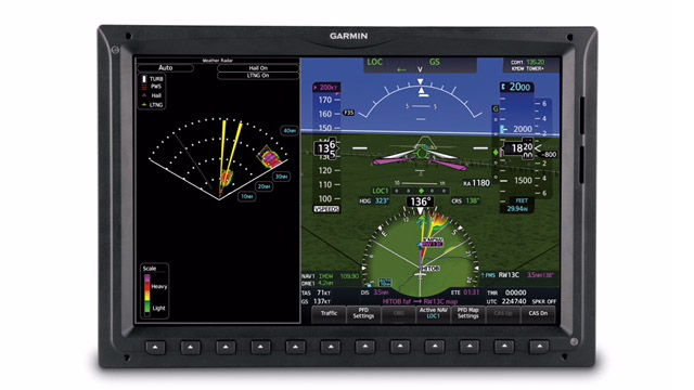 'The GWX 80 provides real-time weather information to help pilots analyze convective weather threats, which aids in situational awareness and helps reduce aircraft operational costs,' Garmin said. Photo courtesy of Garmin.