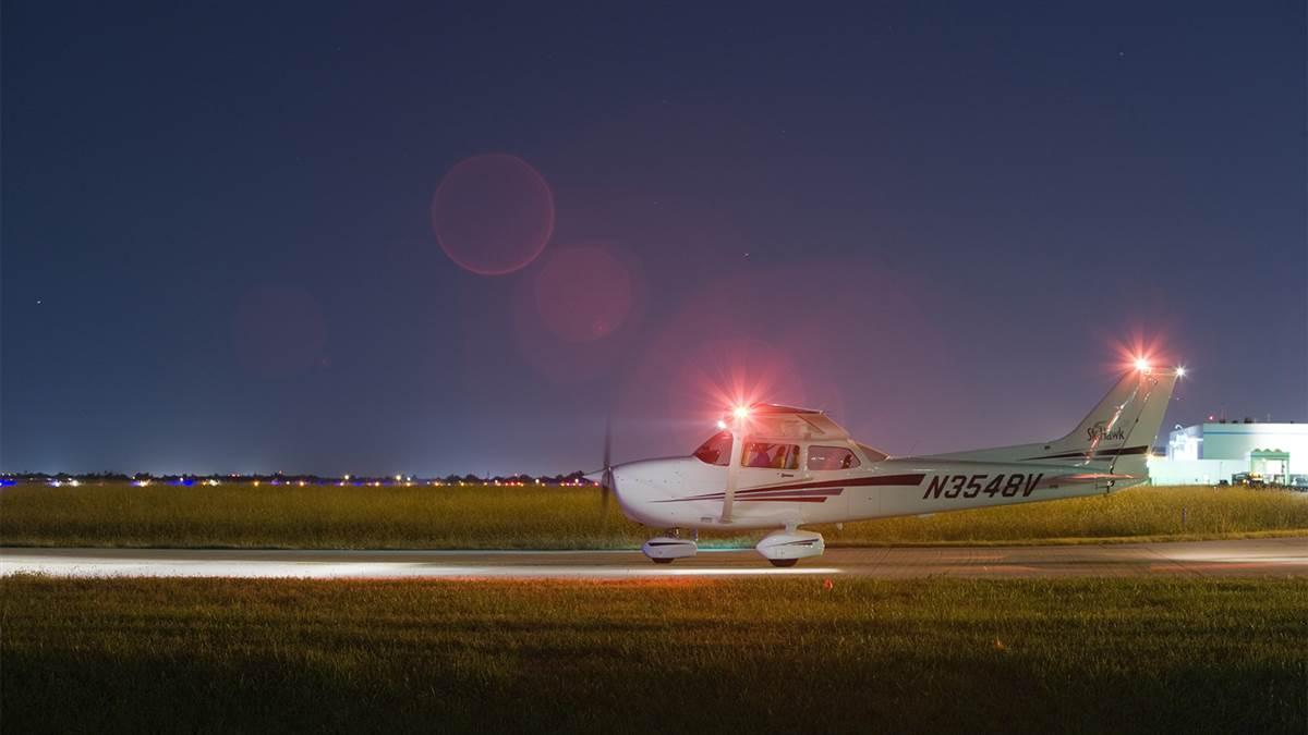 The end of daylight saving time allows pilots a convenient opportunity to sharpen their night flying skills. Photo by Mike Fizer.