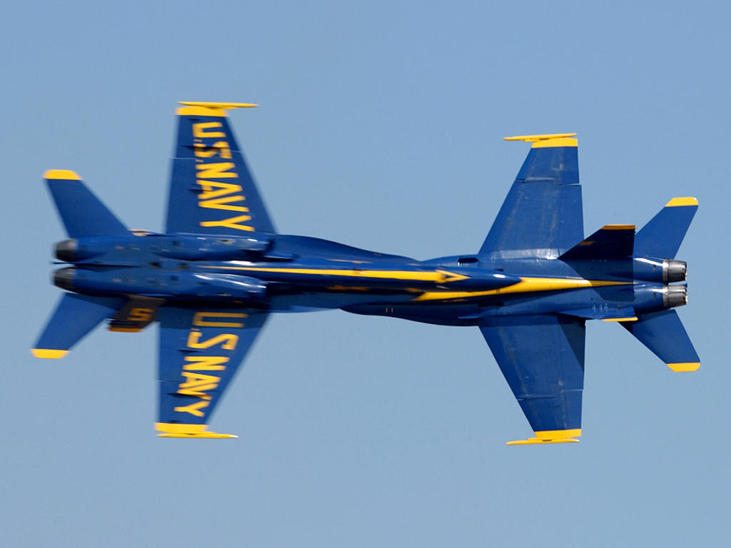 The Dayton International Airshow is held each summer at Dayton International Airport. The U.S. Navy Blue Angels are the featured performers for 2018. When in town for the airshow, be sure to visit the National Museum of the U.S. Air Force. U.S. Navy photo by Photographer's Mate 2nd Class Ryan J. Courtade.