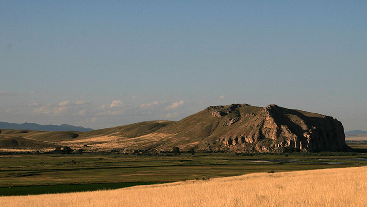 Beaverhead Rock is one of  many landmarks along the Lewis and Clark National Historic Trail. Photo courtesy of the National Park Service.