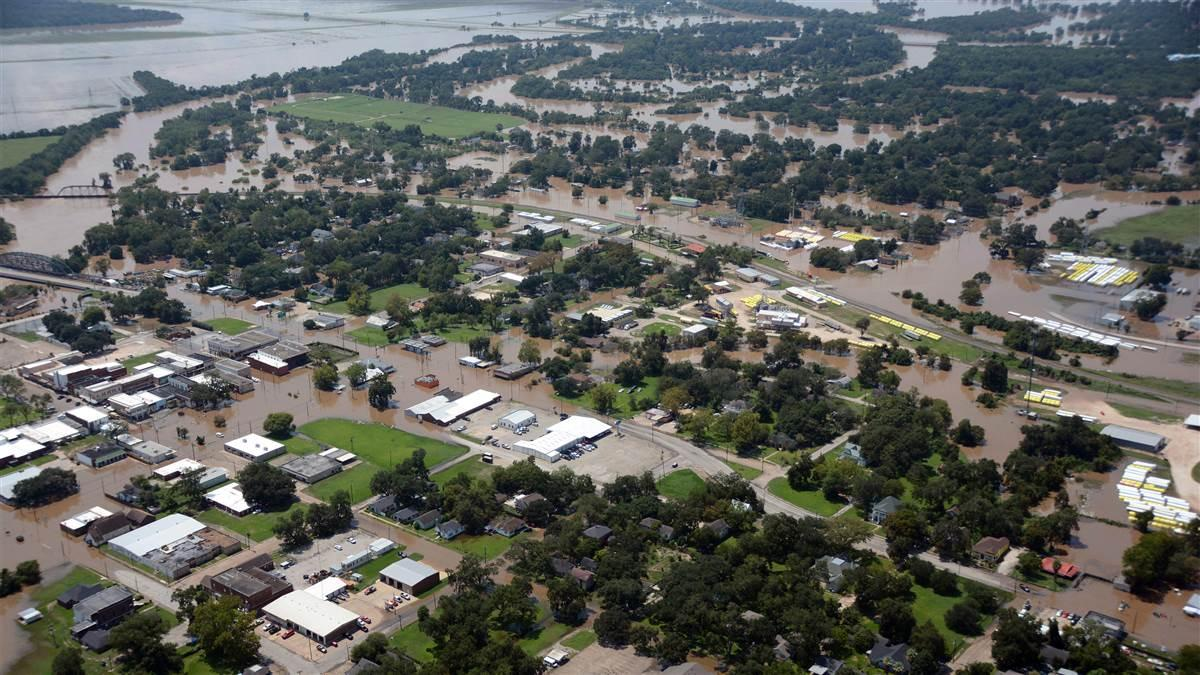 A Civil Air Patrol aerial assessment photo in the aftermath of Hurricane Harvey shows heavy flooding from the Colorado River in and around Wharton, Texas. Photo courtesy of the Civil Air Patrol.