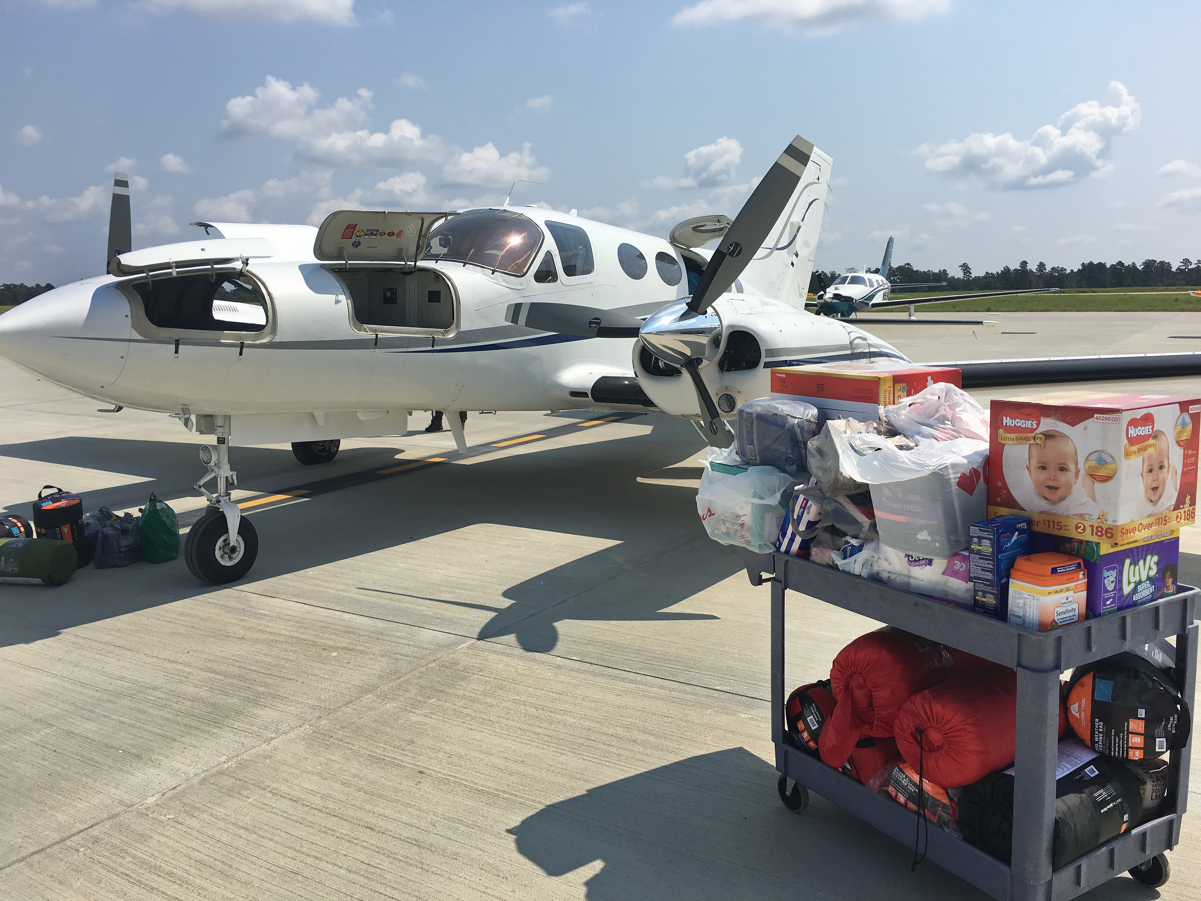 General aviation volunteers including Cessna pilot Robert Johnson contributed to Operation Airdrop, a grassroots and crowd-funded rescue organization that sprung up in Hurricane Harvey's aftermath. Photo courtesy of Robert Johnson.