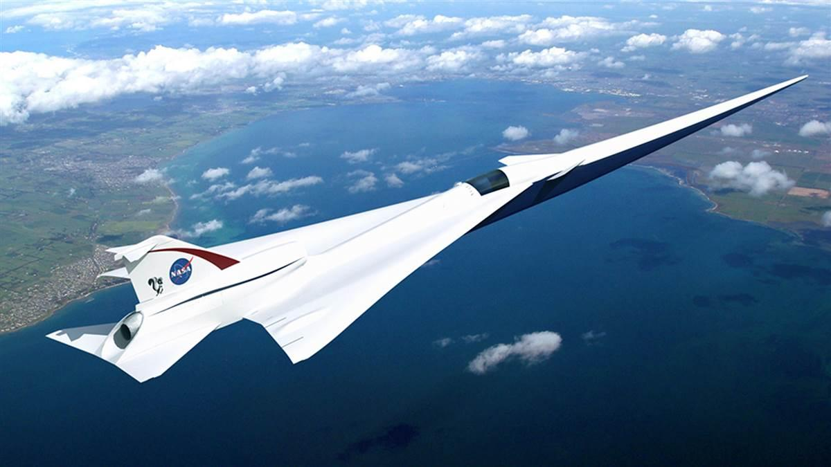 NASA has contracted Lockheed Martin to build a full-scale, supersonic X-plane that will pass more quietly overhead at Mach 1.4. Image courtesy of Lockheed Martin.
