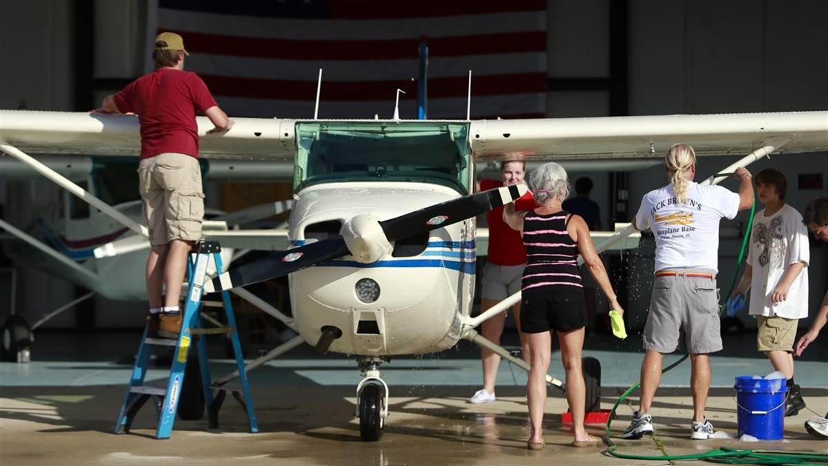 Joining a flying club is just one of the many ways to minimize expenses while getting the most out of your newly acquired pilot certificate.  Photo by Christopher Rose.