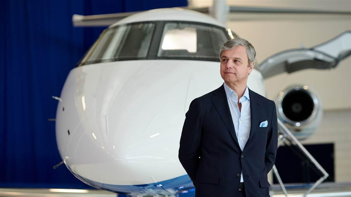 George Antoniadis, president of fractional ownership operator PlaneSense, announced Feb. 8 the delivery of the first Pilatus PC-24 twinjet. Photo courtesy PlaneSense.