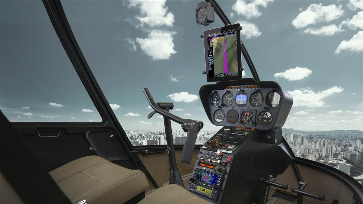 Avidyne Corp. has received supplemental type certificate approval to install the company's integrated flight management, navigation and communication products in Robinson Helicopters. Image courtesy of Avidyne.